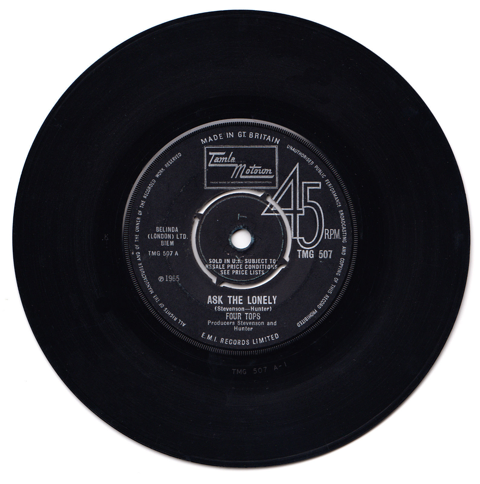 TMG 507 - TAMLA MOTOWN / Four Tops - Ask the Lonely
