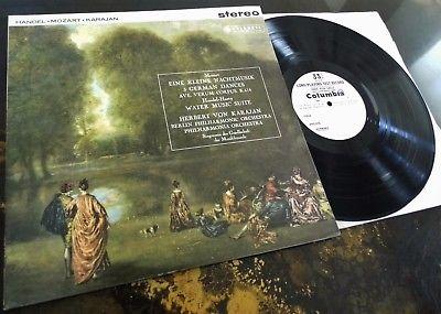 Mozart / Handel - Herbert Von Karajan **Columbia SAX 2389 Test Press LP**