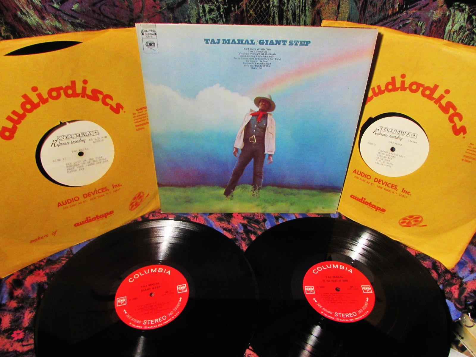 """1969 COLMBIA """"TEST PRESS"""" 4- LP's TAJ MAHAL & JESSE ED DAVIS   GIANT STEP Blues"""