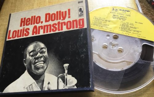 Louis Armstrong Hello, Dolly Reel to Reel Tape 7.5 ips TESTED VG