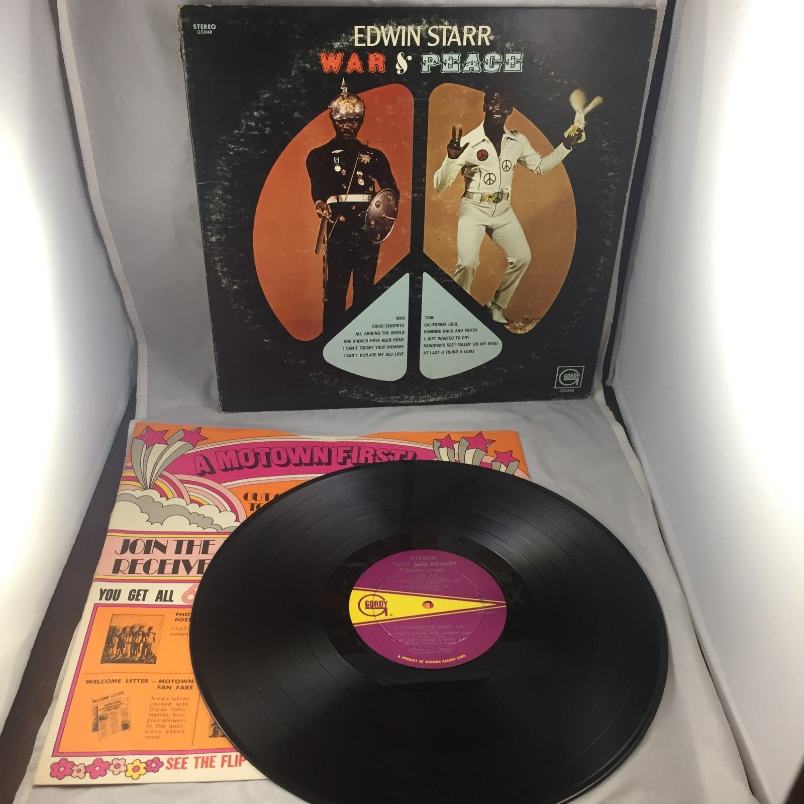 Edwin Starr, War and Peace, Vinyl Album Gordy Records GLPS 948, 1970