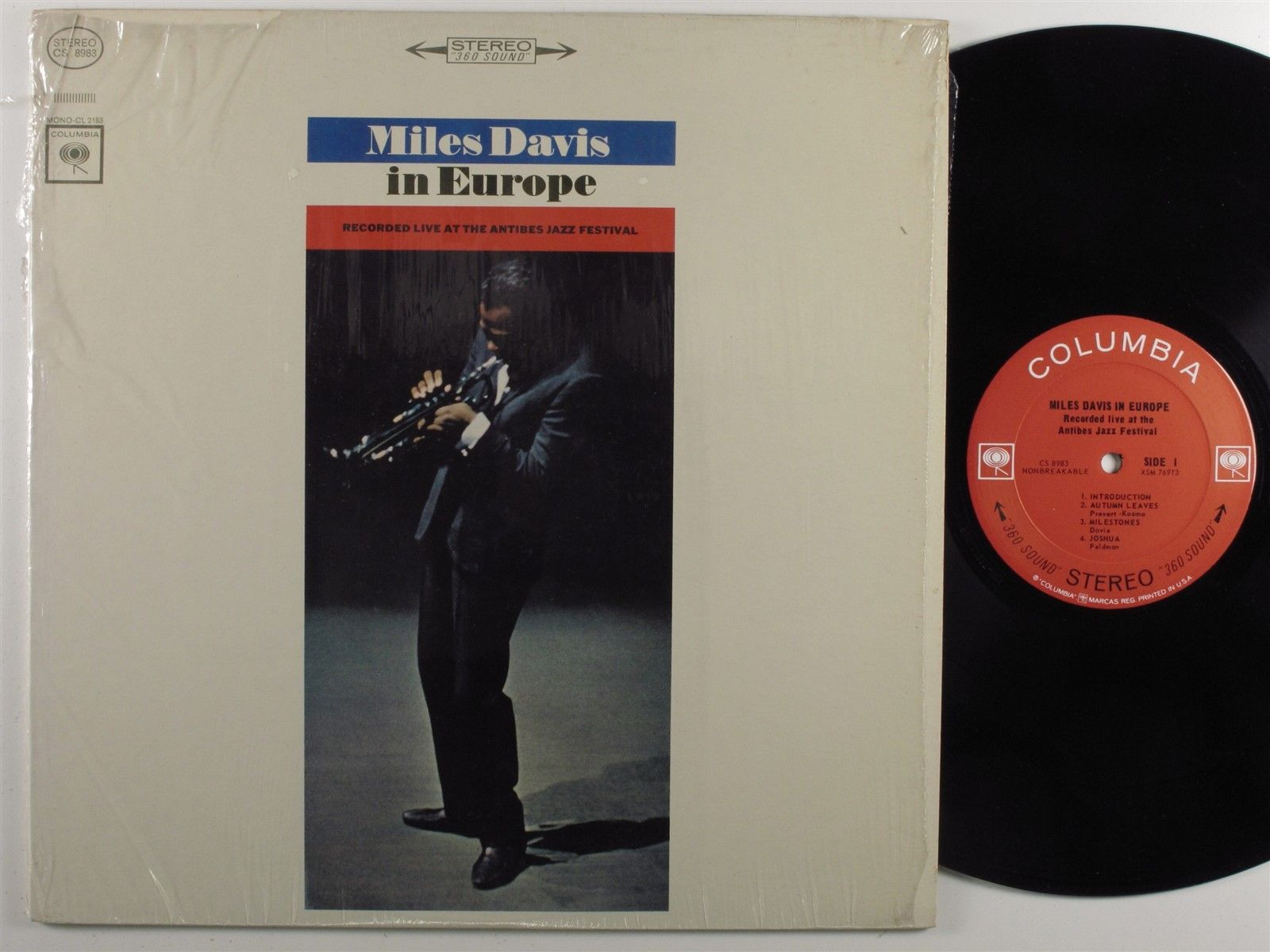 MILES DAVIS In Europe COLUMBIA LP VG++ stereo 2-eye SHRINK