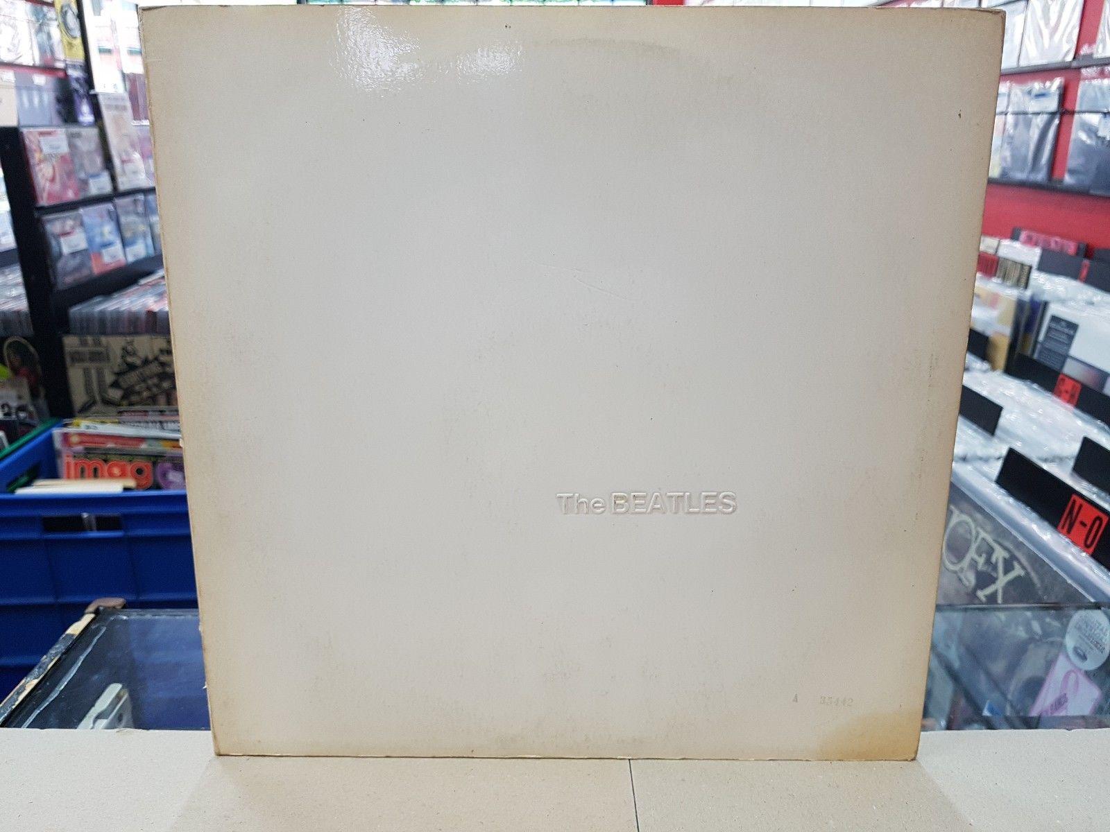 THE BEATLES-WHITE ALBUM-VINYL 2xLP-OZ-1968-INSERTS-NUMBERED-MISPRESS -RARE-PCSO