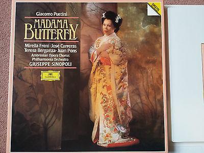 DG Digital 423567-1 PUCCINI Madame Butterfly Sinopoli 3LP Box  NM+