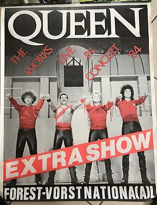 Queen - The Works Live in Concert  - 1984  - 55x85cm Envoi TUBE  AFFICHE / POSTE