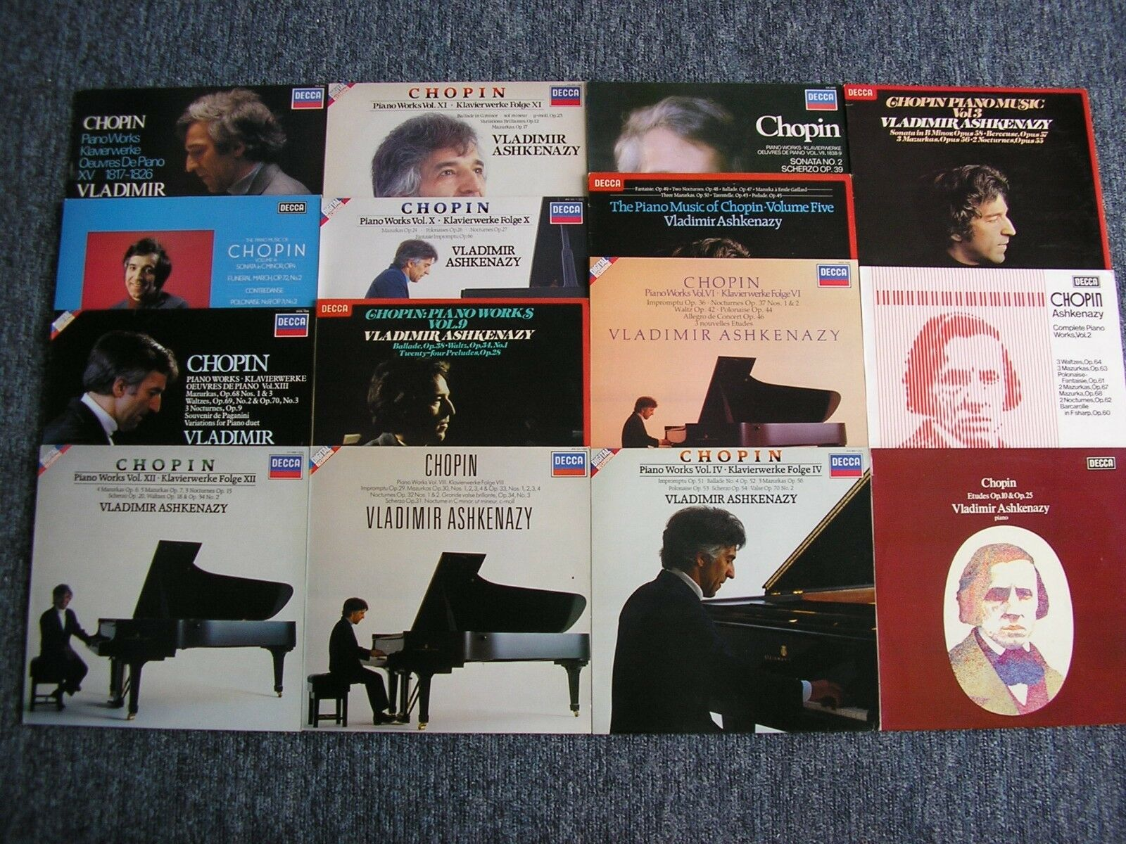 CHOPIN: COMPLETE SOLO PIANO MUSIC    VLADIMIR ASHKENAZY   15 LP    NM
