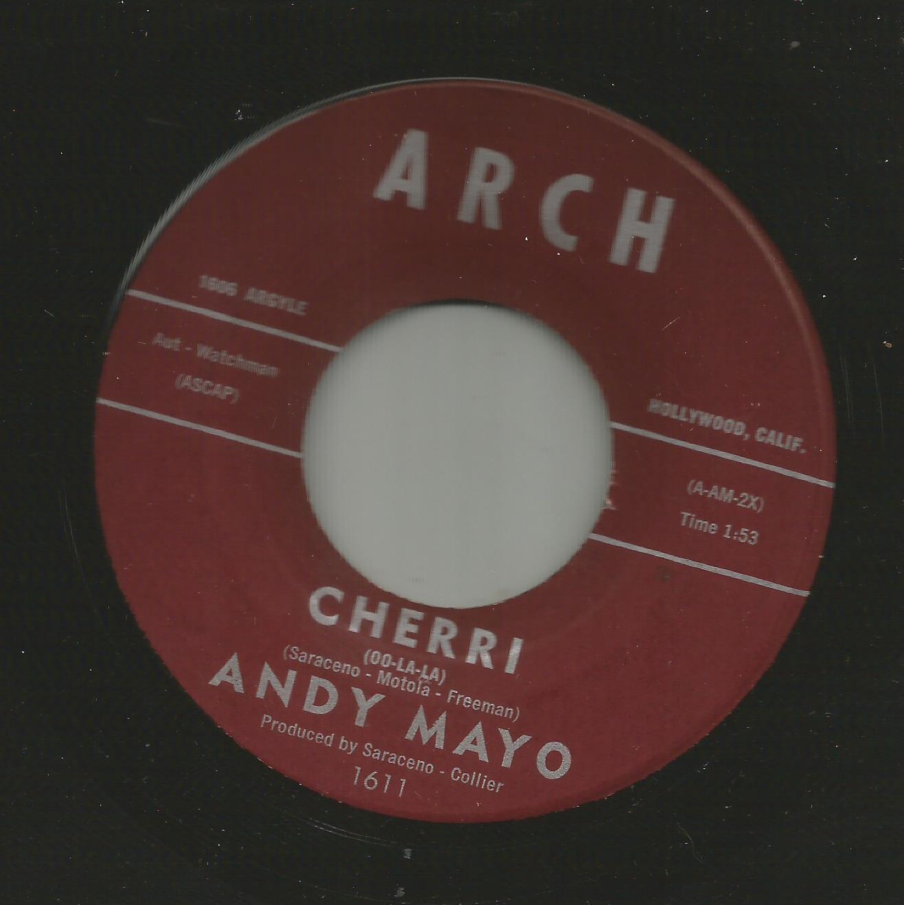 POPCORN TEEN DOOWOP- ANDY MAYO  - CHERRI  -HEAR -on ARCH
