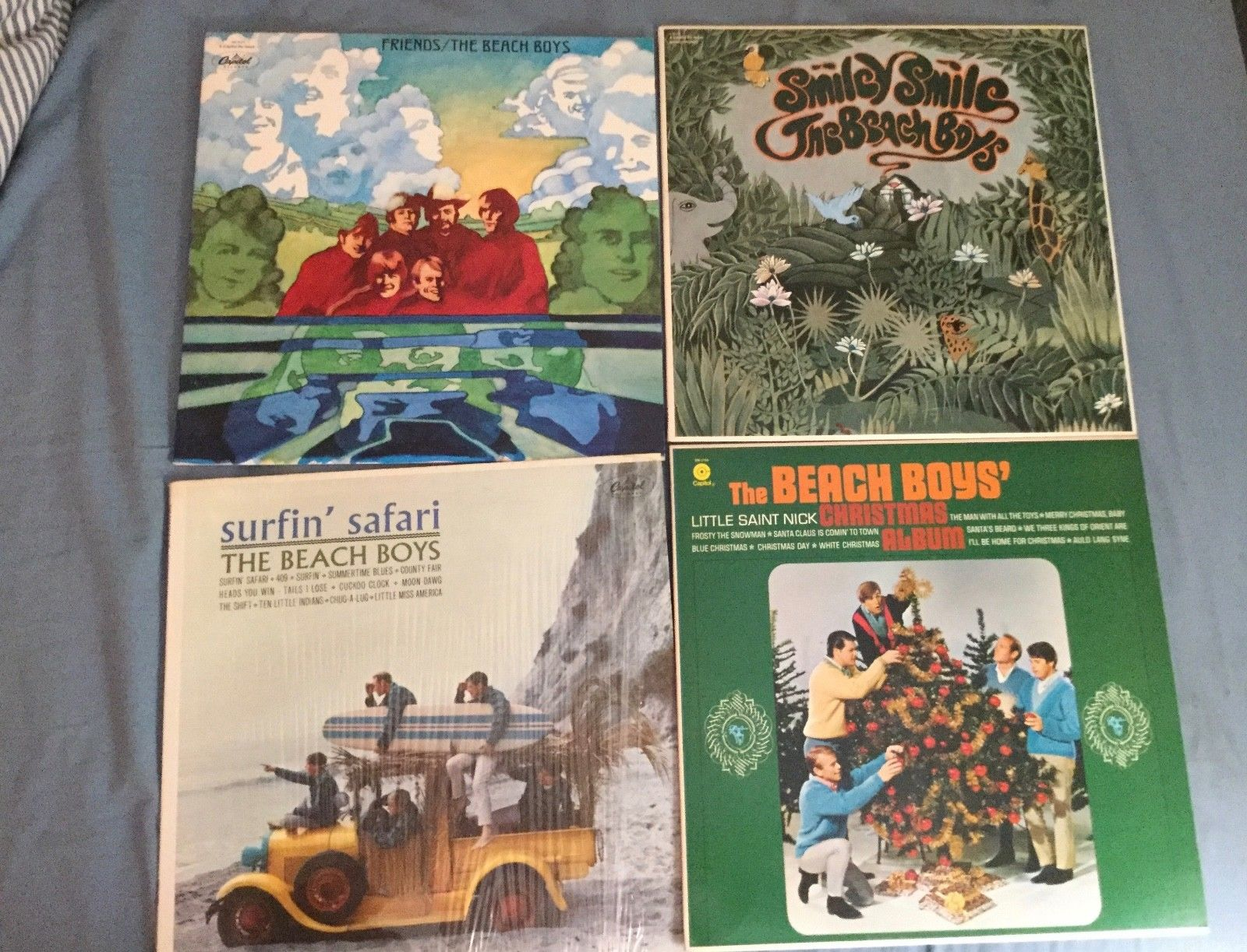 Beach Boys 5 LP lot--Smiley Smile, Be True to Your School, Friends + 2