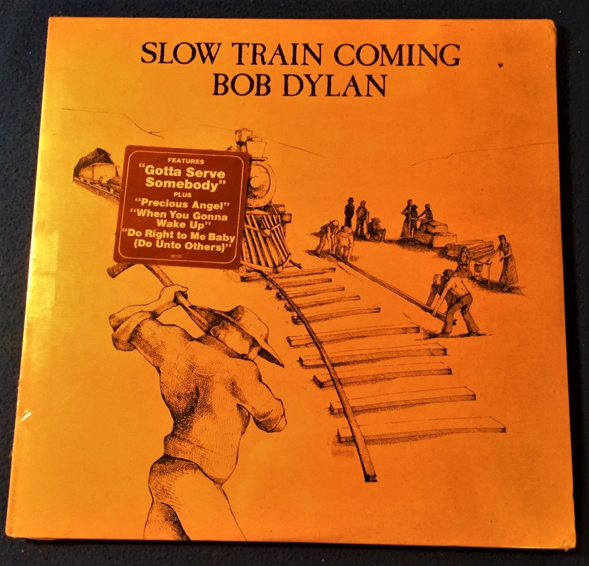BOB DYLAN Slow Train Coming STILL SEALED ORIG '79 COLUMBIA LP w/HYPE STICKER