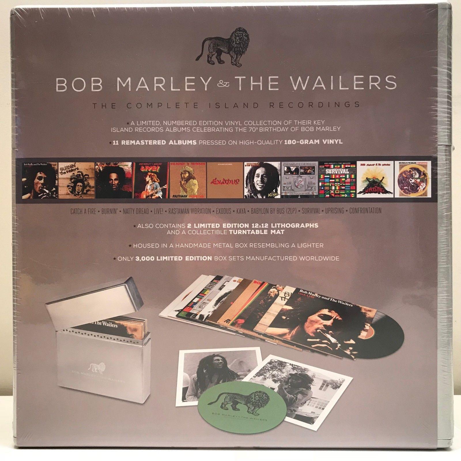 Bob Marley & the Wailers Complete Island Recordings 11 LP #'d metal box set
