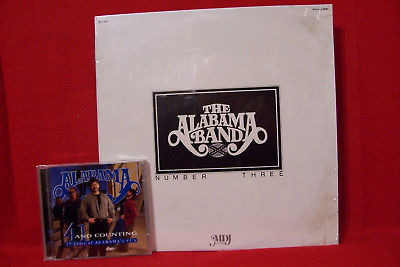 Alabama 'The Alabama Band Number Three' Early SEALED LP + '41 & Counting' Dbl CD