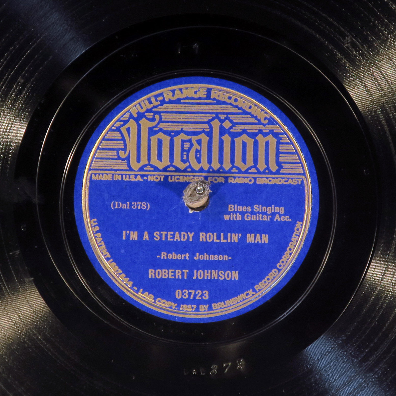 78 RPM -- Robert Johnson, Vocalion 03723, E-V+ Blues