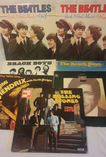 Vinyl Bundle Greatest Hits Beatles rock n roll music, rolling stones, beach boys