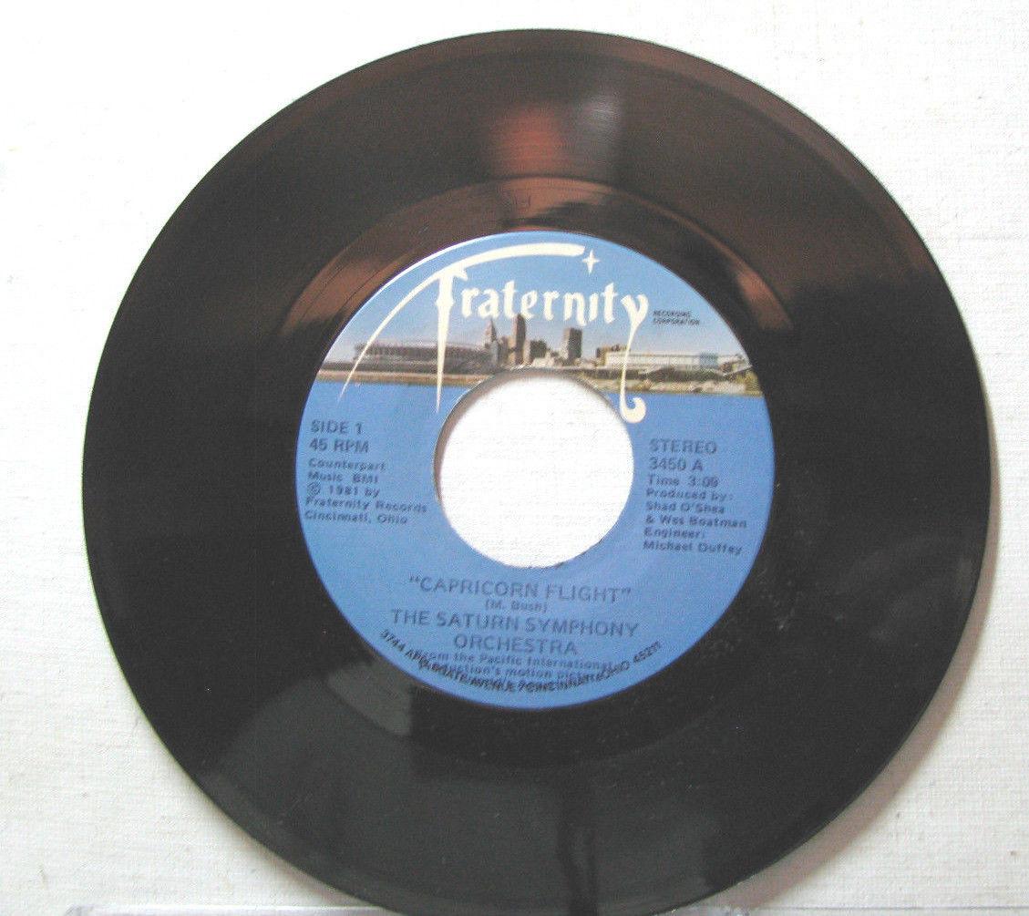 45 RPM Single--- THE SATURN SYMPHONY ORCHESTRA:  CAPRICORN FLIGHT & SUGAR DREAMS