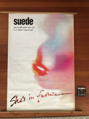 "SUEDE Vintage Subway Poster Giant 40""X60"" Blur Ride Lush Pulp Oasis the Smiths"