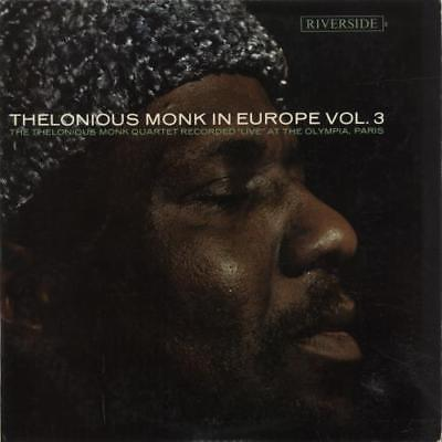 In Europe Vol. 3 Thelonious Monk UK vinyl LP album record RLP004 RIVERSIDE