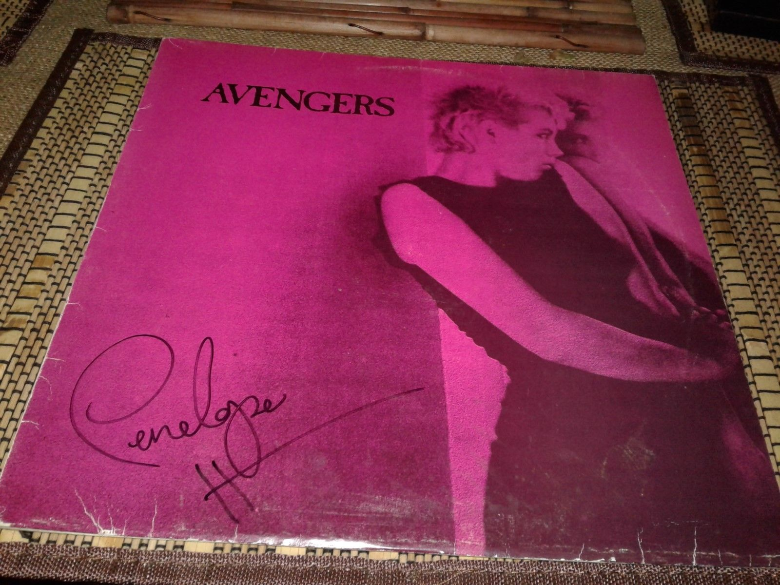 Avengers Vinyl Album Signed Penelope Houston Punk 1977 Clash Sex Pistols fans
