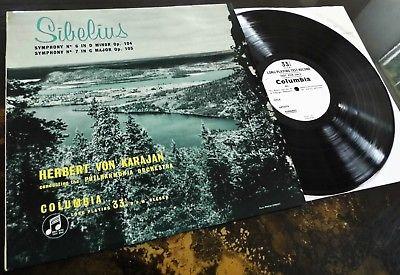 Herbert Von Karajan Conducts Sibelius **Columbia 33CX 1341 Test Press** NM