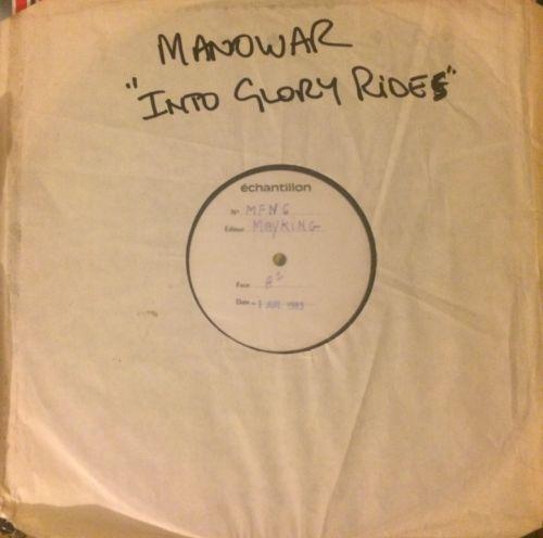 MANOWAR Into Glory Ride (Rare Mayking MFN White Label Test Pressing Vinyl 1983)