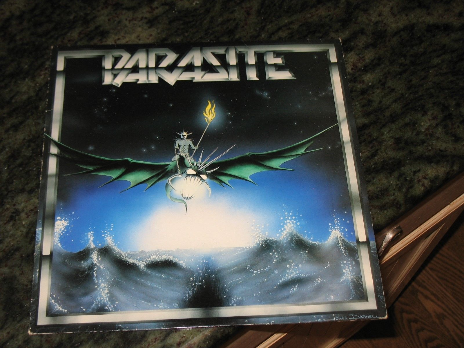 "PARASITE 1984 4 track 12"" EP s/t 1st same NM shape SWEDEN Sword METAL nwobhm lp"