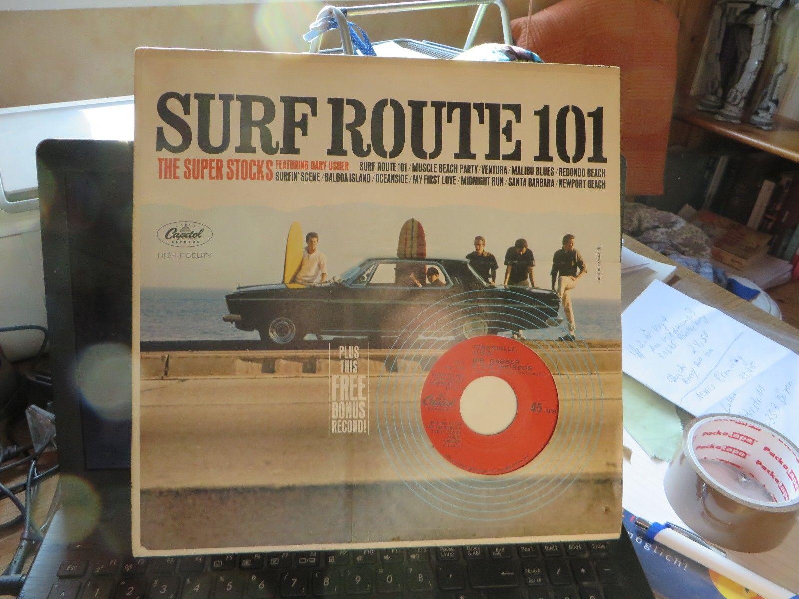 The Superstocks: Surf Route 101 MIT BONUS SINGLE  Original LP
