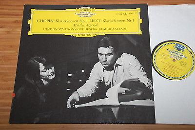 Argerich Abbado Chopin Liszt Concertos No.1 DGG Big Tulip Stereo SLPM 139 383 NM