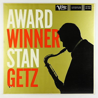 Stan Getz - Award Winner LP - Verve - V-8296 Mono VG+
