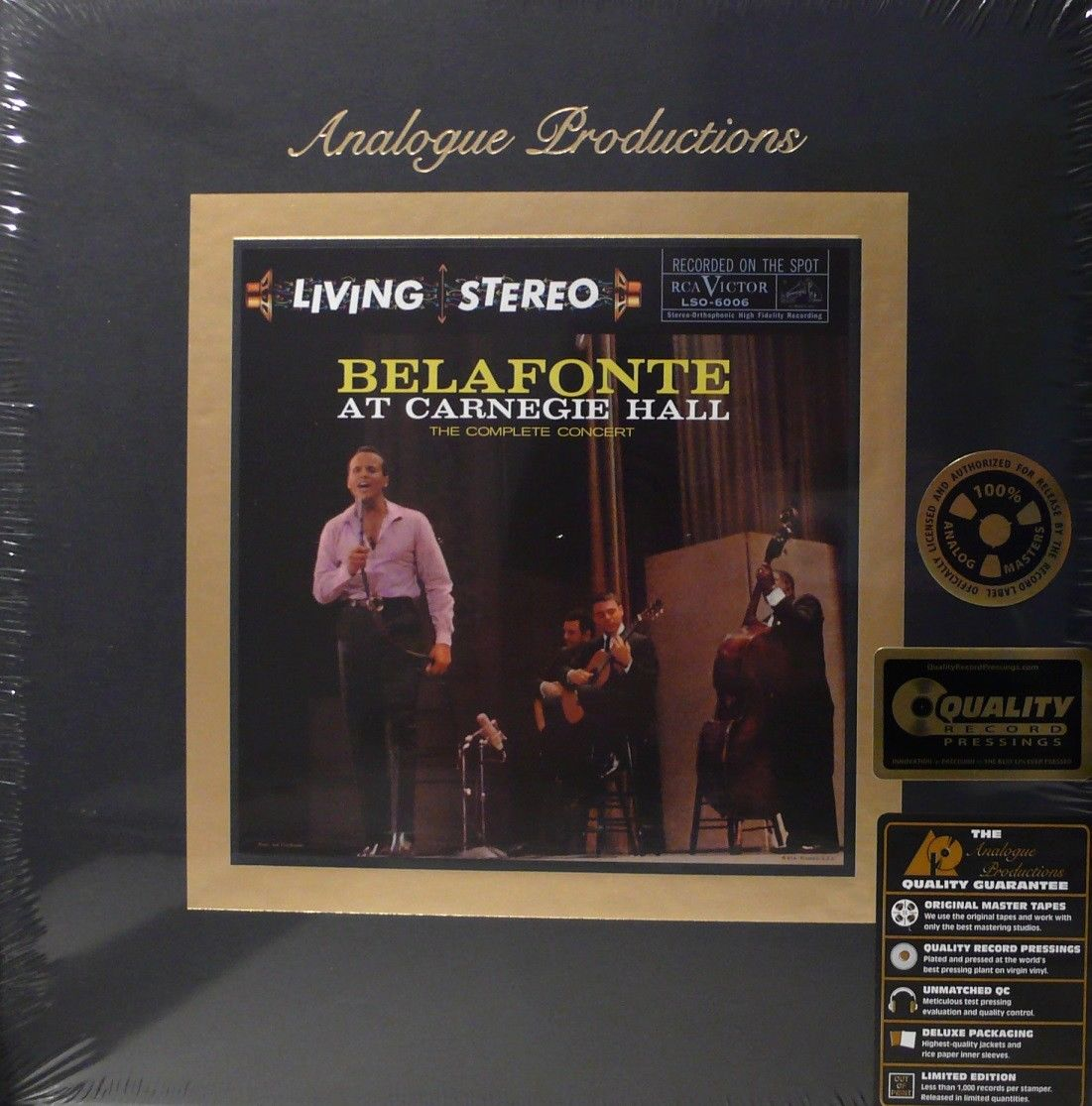 HARRY BELAFONTE - LIVING STEREO - AAPF 6006-45 - LIVE AT CARNEGIE HALL 5LP BOX