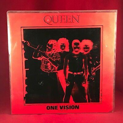 """QUEEN One Vision 1985 UK 12"""" vinyl single  EXCELLENT CONDITION PVC NEGATIVE"""