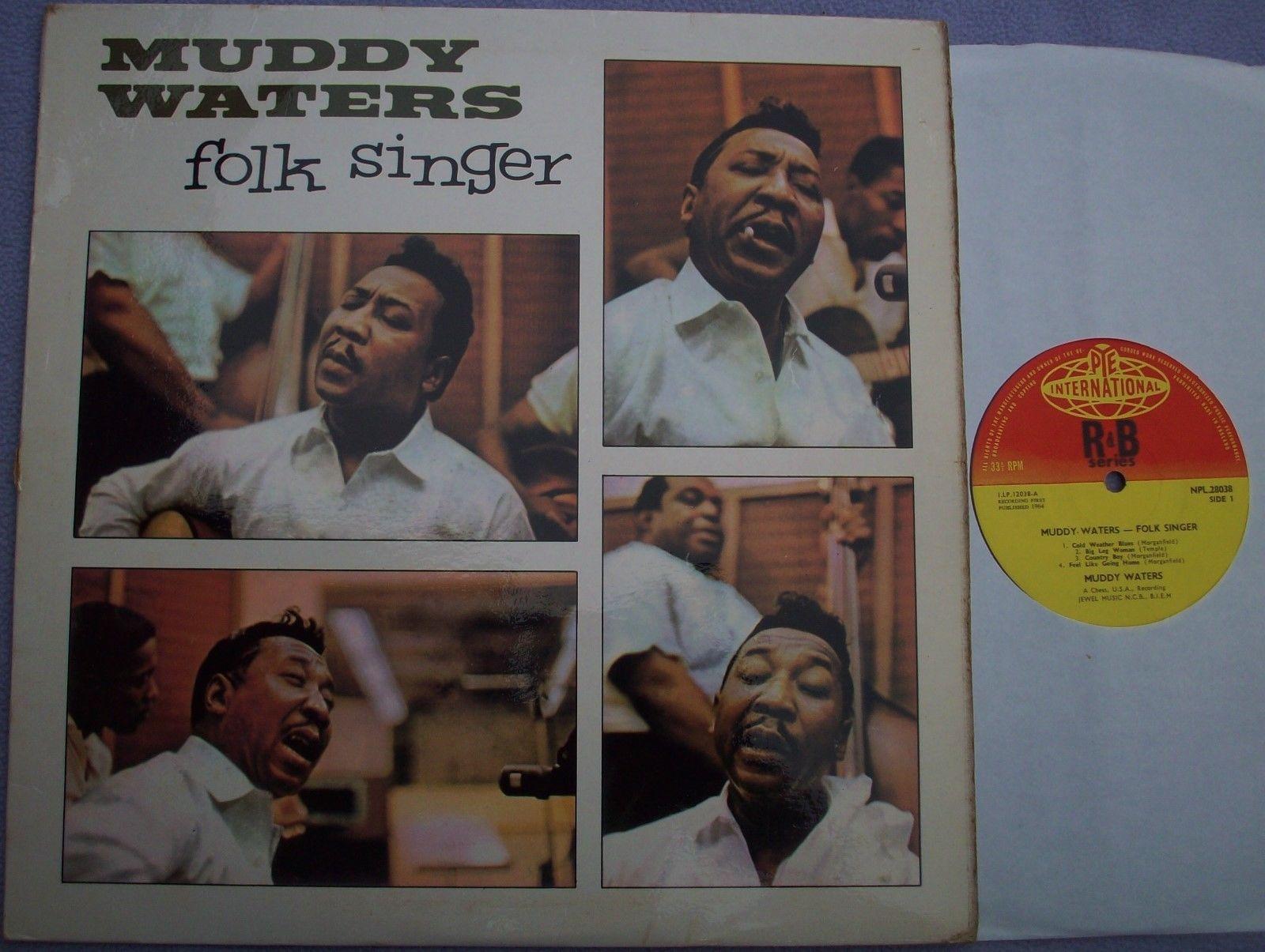 MUDDY WATERS FOLK SINGER UK Pye Mono 1964 1st ISSUE BLUES Buddy Guy Willie Dixon