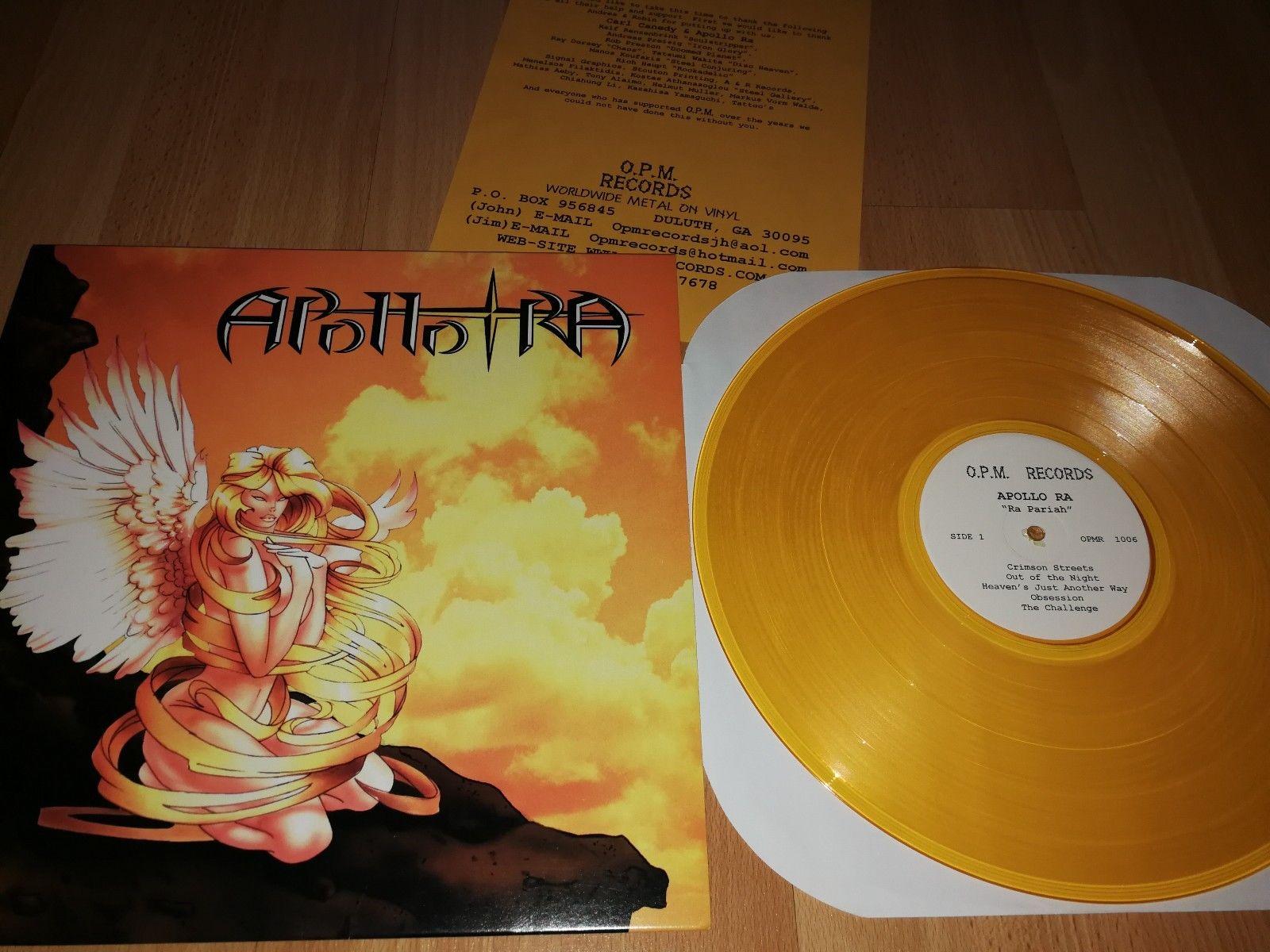 APOLLO RA - Ra Pariah LP Gold Vinyl OPM REC 2000 RARE Heathen`s Rage SALEMS WYCH