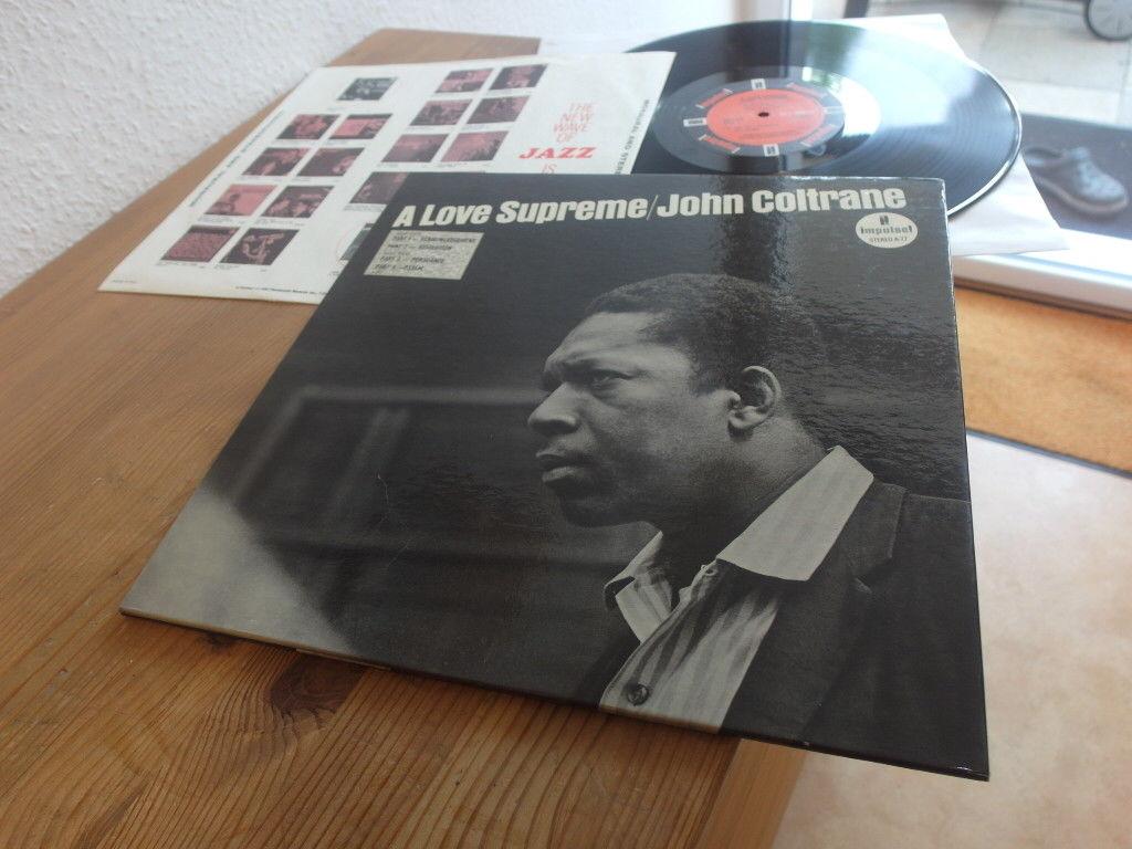 "John Coltrane ""A Love Supreme"" Lp 1965 IMPULSE STEREO AS-77 VAN GELDER"