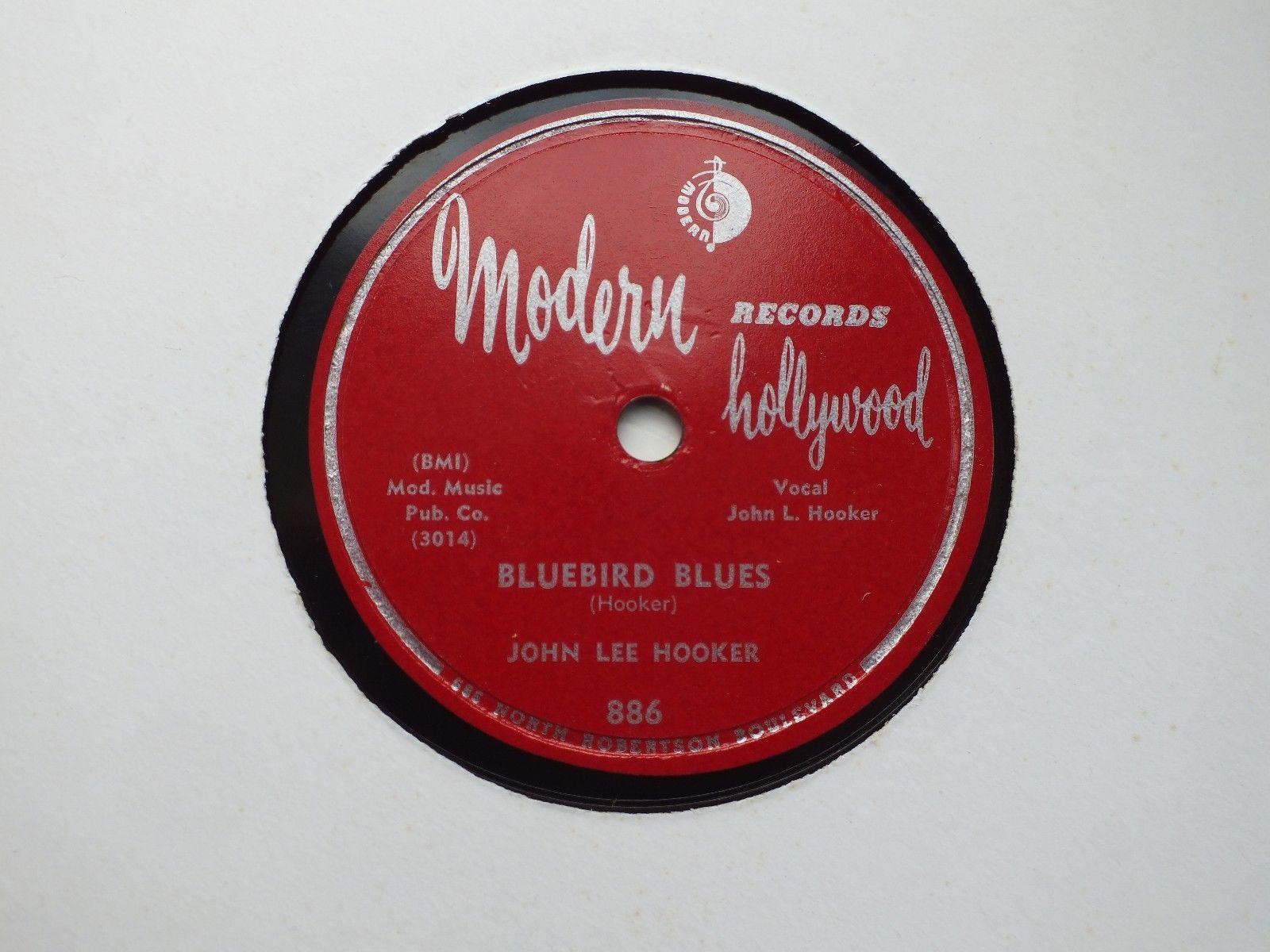 JOHN LEE HOOKER - Bluebird blues/Key to the highway - MODERN 886 - BLUES 78