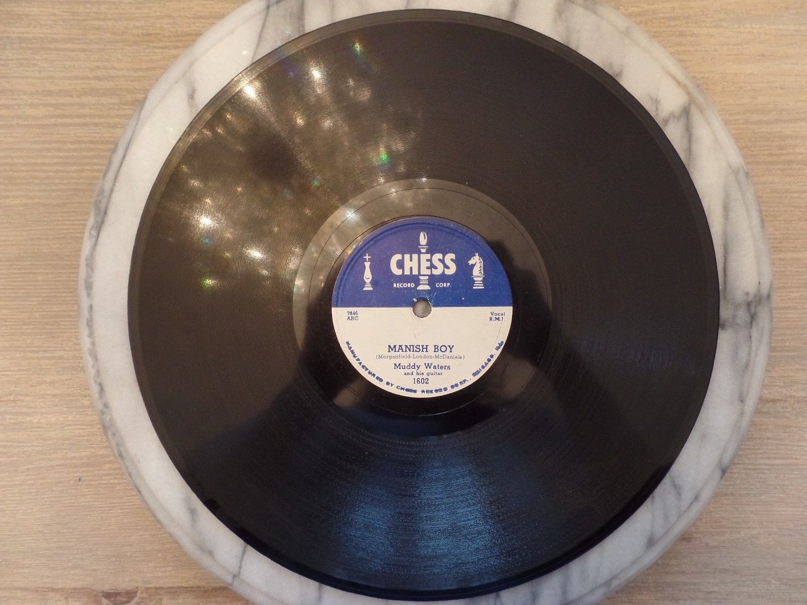78 RPM Chess 1602 Muddy Waters Manish Boy / Young Fashion Ways