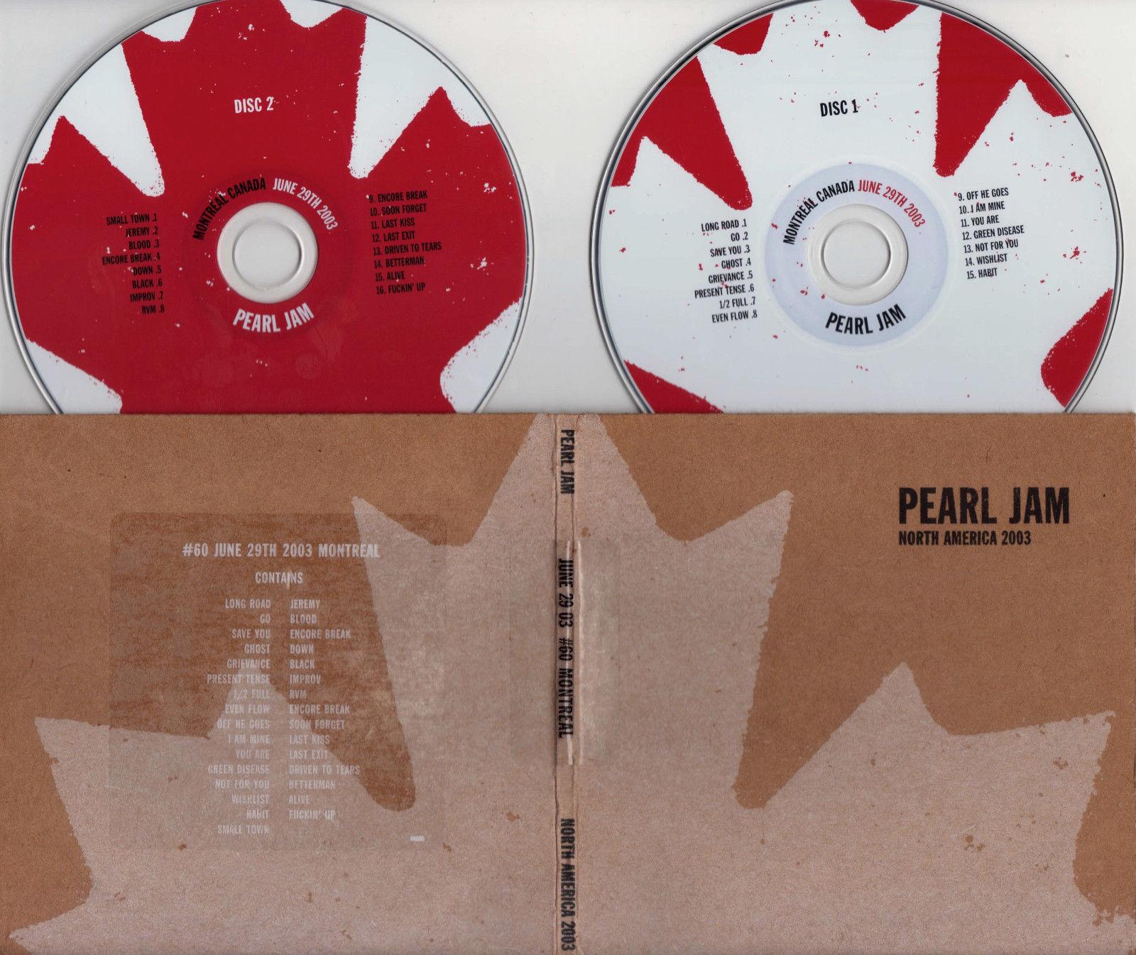 popsike com - Pearl Jam Live Official Bootleg #60 Montreal Quebec