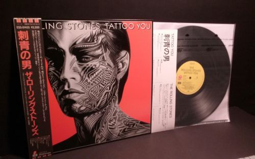 """ROLLING STONES""""Tattoo You""""Lp Japan-Obi-Audiophile Vinyl Japanese Bleed Buttons"""