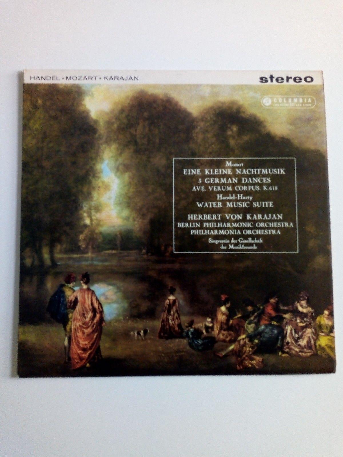 Mozart / Handel - Herbert Von Karajan Columbia SAX 2389 ED1 LP blue silver label