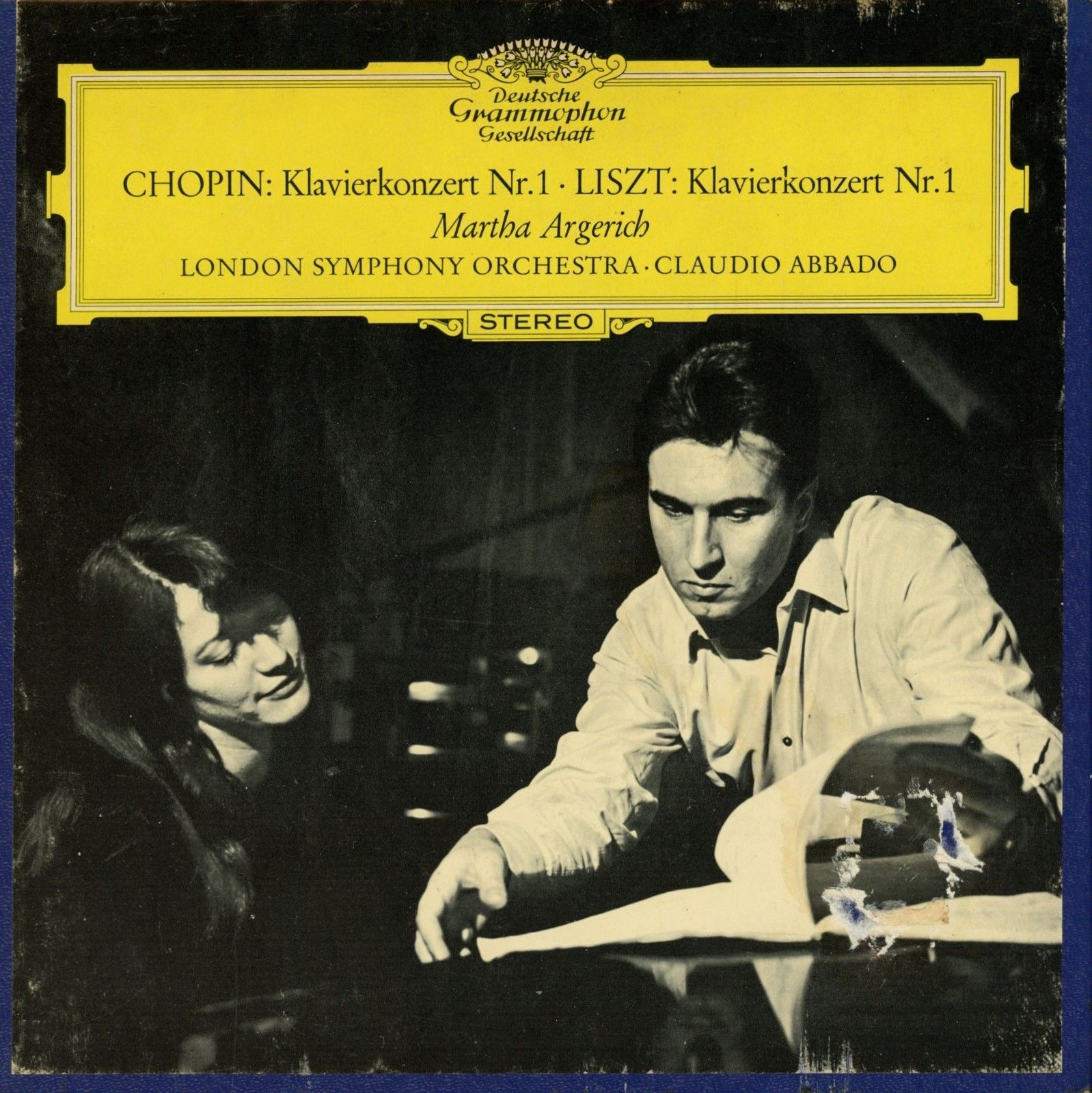 DGG REEL-TO-REEL TAPE: CHOPIN & LISZT - 1ST PIANO CONCERTI / ARGERICH / ABBADO