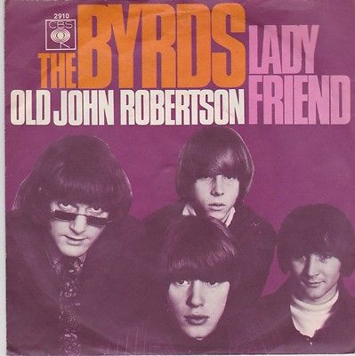 THE BYRDS Lady Friend ORIG 1ED German CBS 2910 unique picture sleeve M- 1967