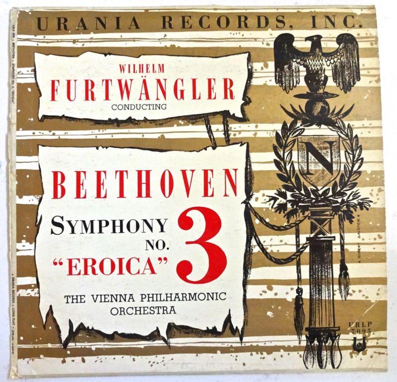 Beethoven Symphony 3 Eroica Wilhelm Furtwangler Vienna Phil Urania  NM URLP 7095