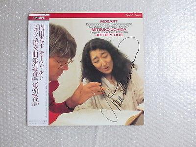SIGNED  MITSUKO UCHIDA MOZART PIANO CONCERTOS No.20&No.21