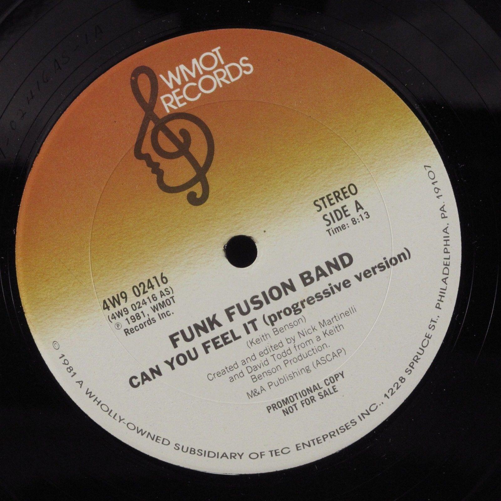 "FUNK FUSION BAND Can You Feel It WMOT 12"" NM promo HEAR"