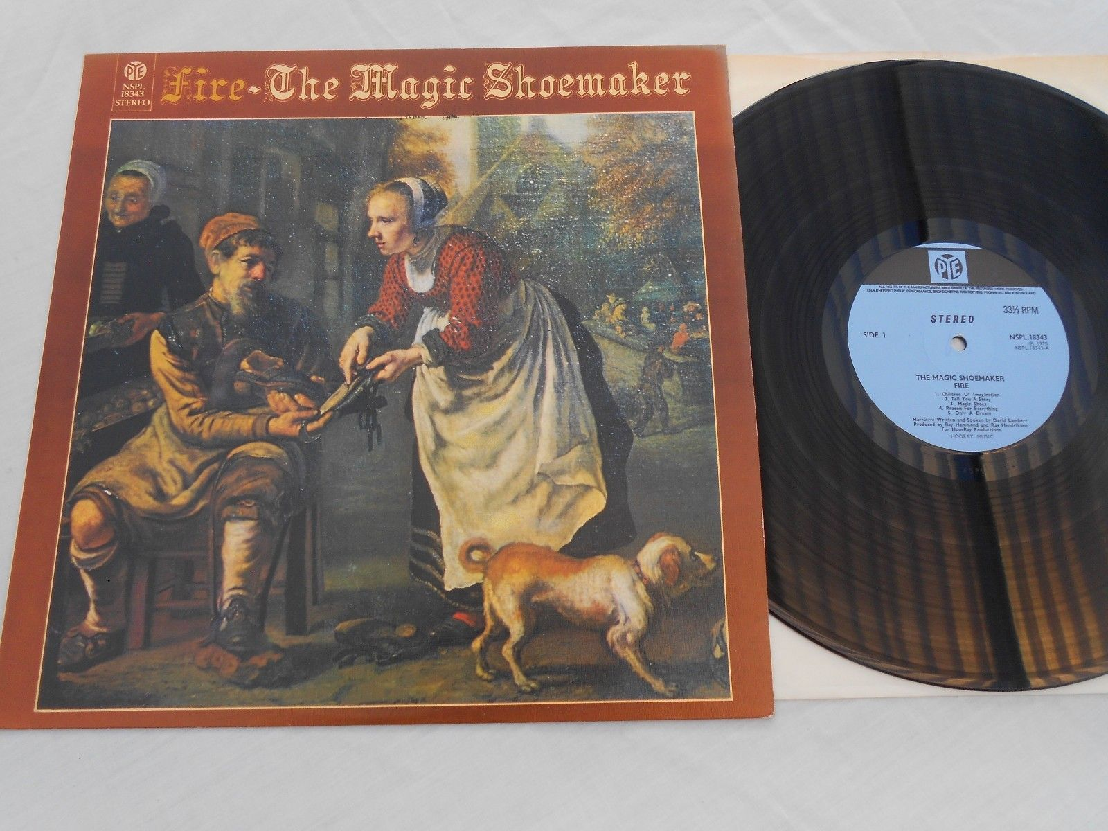 Fire ?– The Magic Shoemaker UK 1st press Pye Records.  NSPL 18343 Original 1970