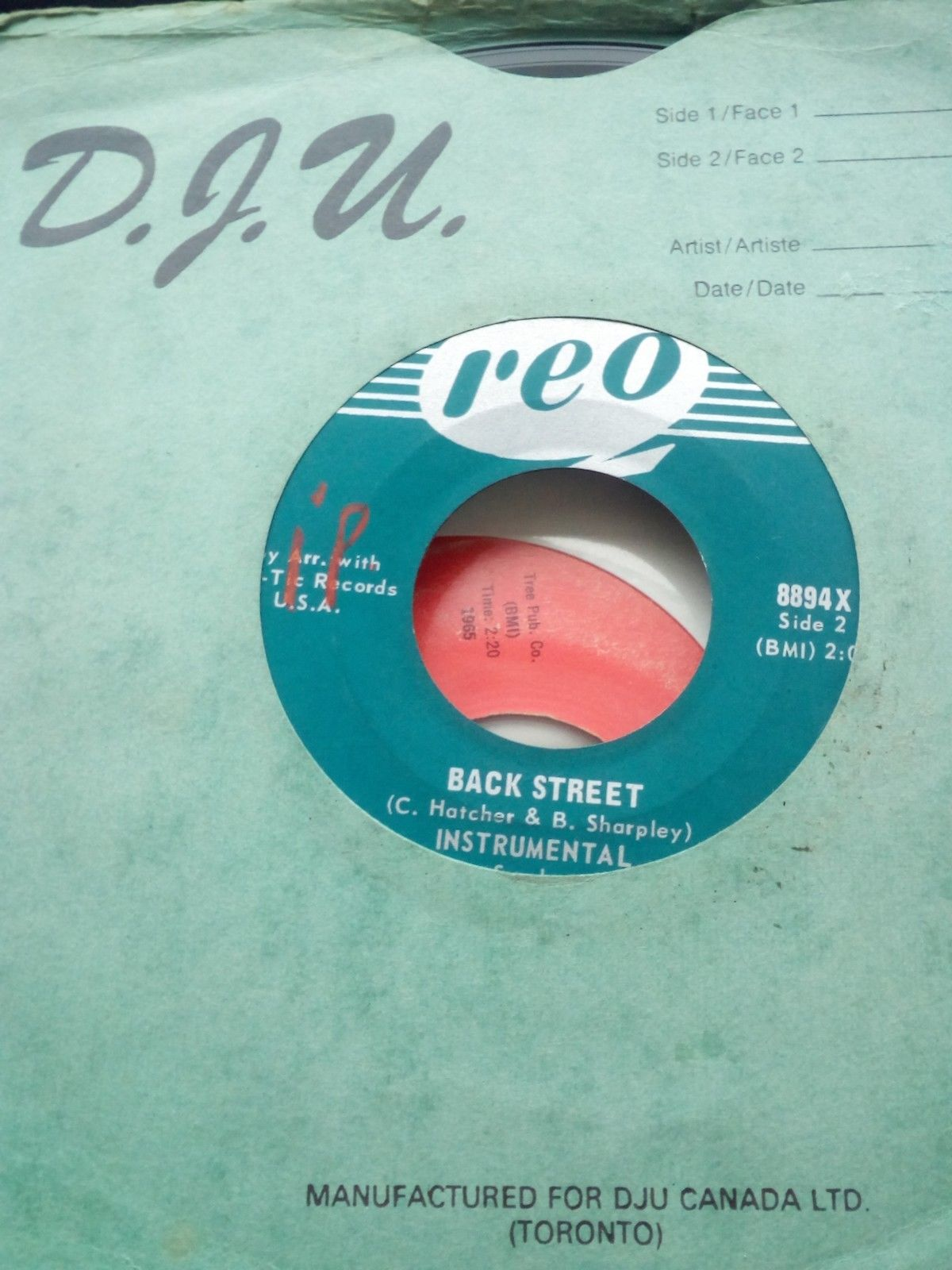 "EDWIN STARR ""BACK STREET"" & INST , ON REO RECORD LABEL"