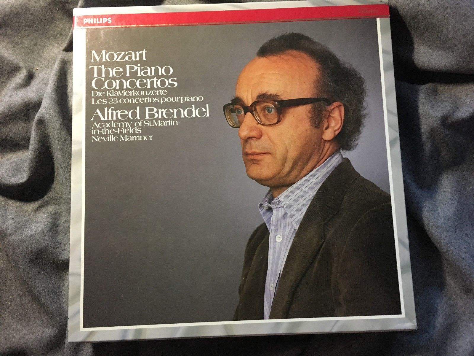 BRENDEL MOZART 23 Piano Concertos w/ MARRINER PHILIPS 13LP STEREO / DIGITAL Mint