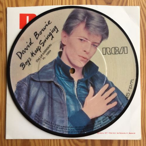 """DAVID BOWIE - BOYS KEEP SWINGING. 1979 PICTURE DISC 7"""" SINGLE. SPAIN. VG COND."""