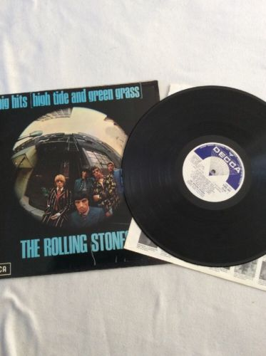 ROLLING STONES HIGH TIDE AND GREEN GRASS VINYL LP VG/VG RARE + BOOKLET TXS.101