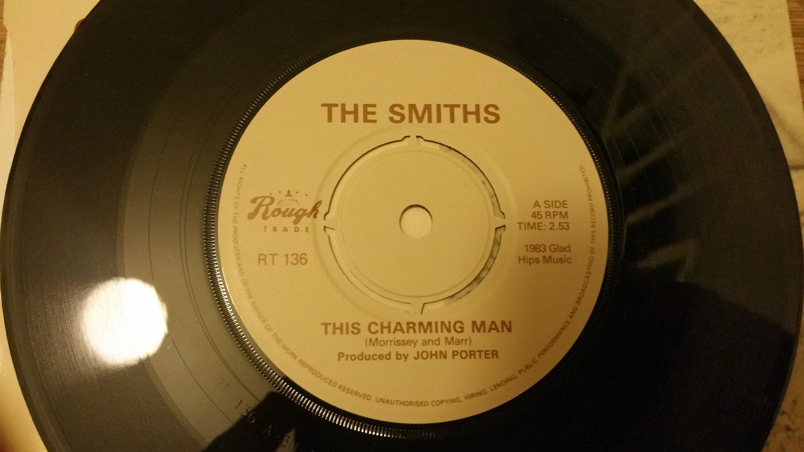 "THE SMITHS This Charming Man 7"" RARE CAPITOL LOGO 1983 ORIGINAL UK 1ST PRESSING"