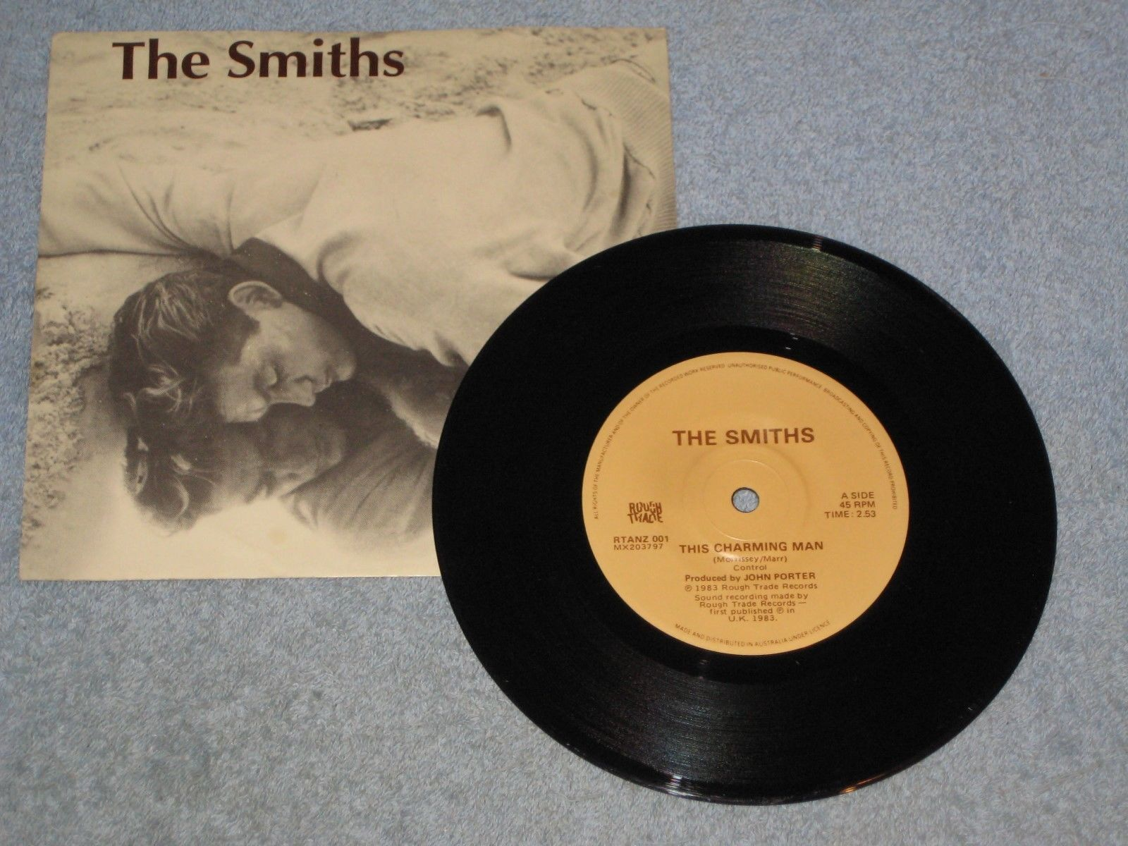 "The Smiths This Charming Man 7"" first Australia press 1983 with sleeve RTANZ 001"