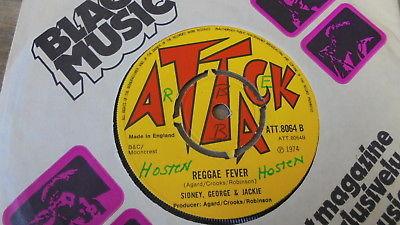 Sidney, George & Jackie - Reggae Fever 1974 UK 45 ATTACK SKA/ROCKSTEADY